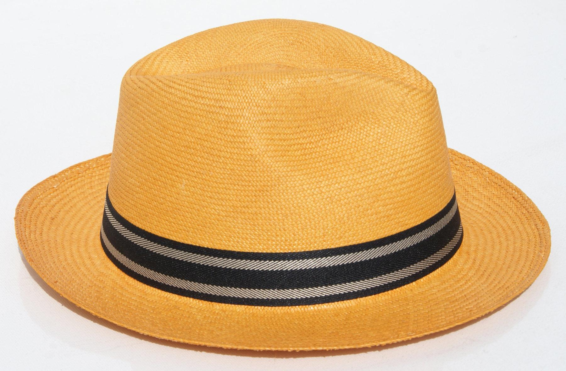 0714c61d897ad Sombreros de paja toquilla de color naranja
