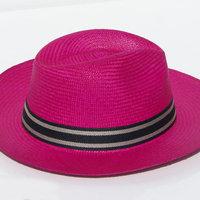 7f6f98b39436c ... Sombreros de paja toquilla de color lila