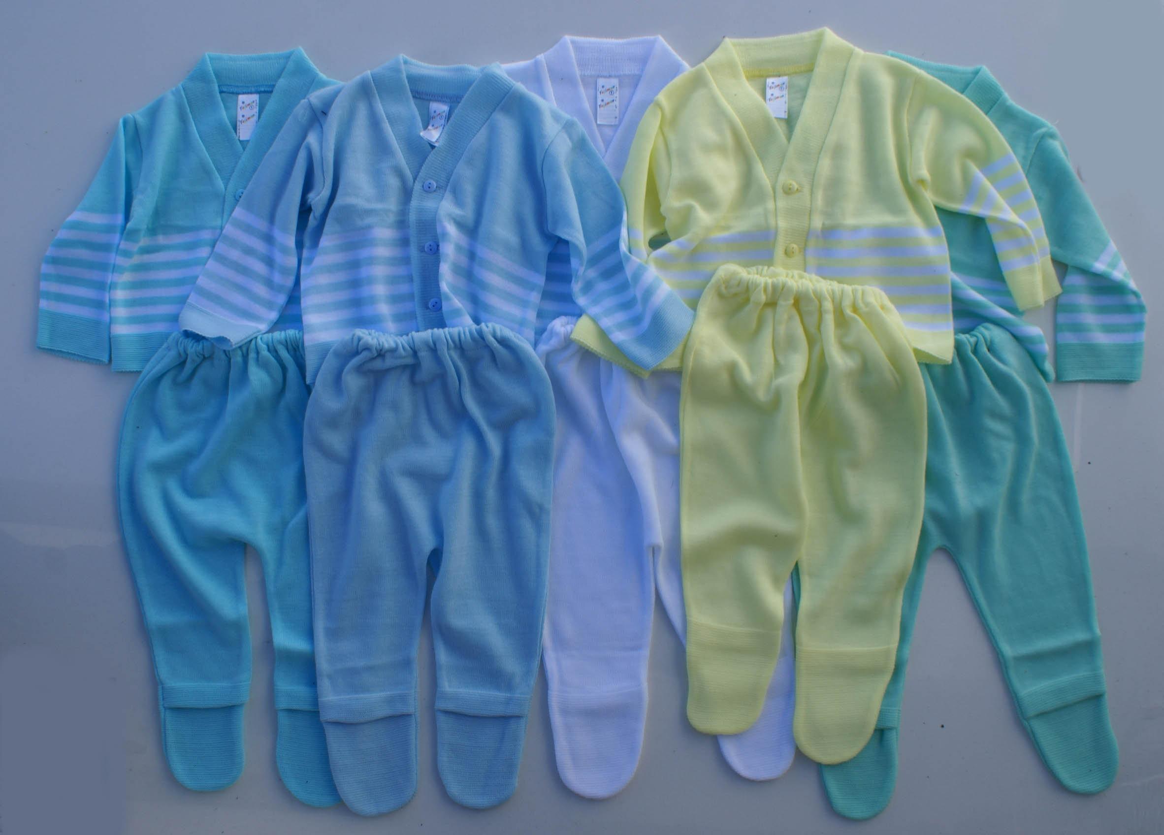 Conjuntos de la ropa para bebes de hilo acrilico camiseta y pantalon ... 9ecbf9dc484d