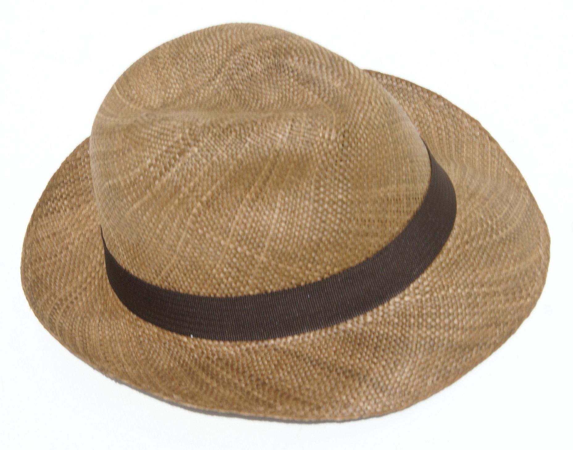 d9dffd3aa47d8 Sombrero color cafe de paja toquilla